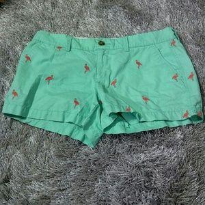 Old Navy Shorts - Blue Flamingo Embroidered Shorts